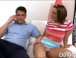 Nice young honey licks aged dick