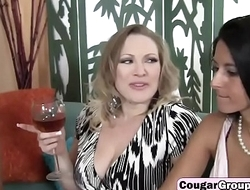 Bisexual milfs take younger long shaft mainly couch