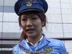 Subtitled Japanese public nudity miniskirt police spoof