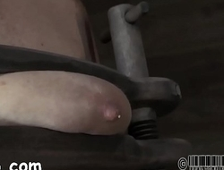 Restrained hotty is punished