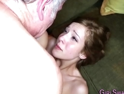 Teen gets cum in mouth