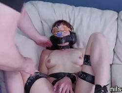 Kinky kitten is taken in anal hole assylum for awkward treatment