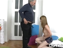 Wicked old crock fucks juvenile pussy