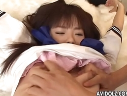 Sexy ass Asian babe tied up and toy fucked hard