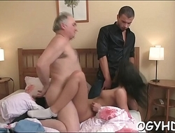 Juvenile sweetie fucked by old paramour