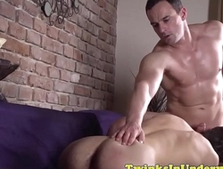 Denude fucked twink jerksoff after blowing cock