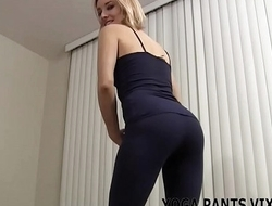 These skin tight yoga pants make me feel so fucking sexy JOI