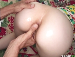 Amazing ungentlemanly fucks stepdad's cock with her tight asshole