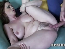 Curvy MILF Violet Addamson takes a dick in her tight twat